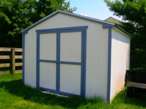 Proof of completed Shed. Only took 3 weekends to build (Over a 7 month period!)